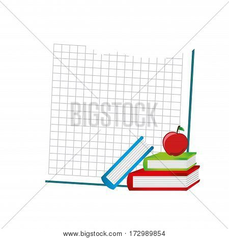 set school supplies icons vector illustration design