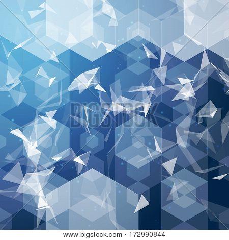 Vector business hexagonal background. Business technology background.