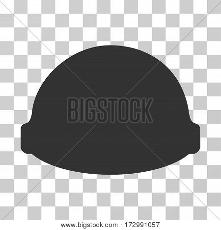 Builder Helmet vector pictogram. Illustration style is flat iconic gray symbol on a transparent background.