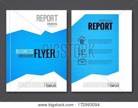 Cover Report Annual Flyer design template. Business layout concept vector.