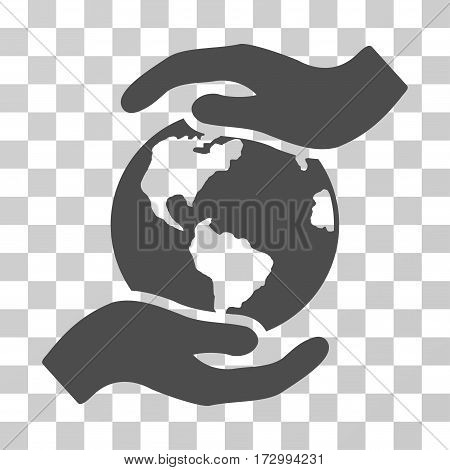International Care vector pictograph. Illustration style is flat iconic gray symbol on a transparent background.