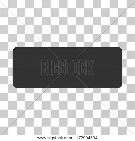 Minus vector pictograph. Illustration style is flat iconic gray symbol on a transparent background.