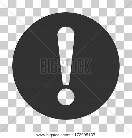 Problem vector icon. Illustration style is flat iconic gray symbol on a transparent background.