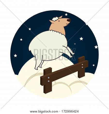 sheep jump sleep icon vector illustration design