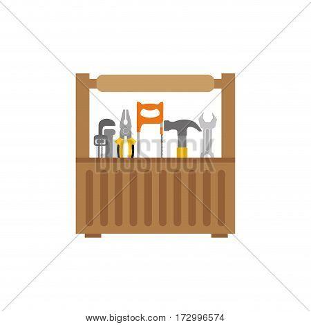 Tools kit box icon vector illustration graphic design