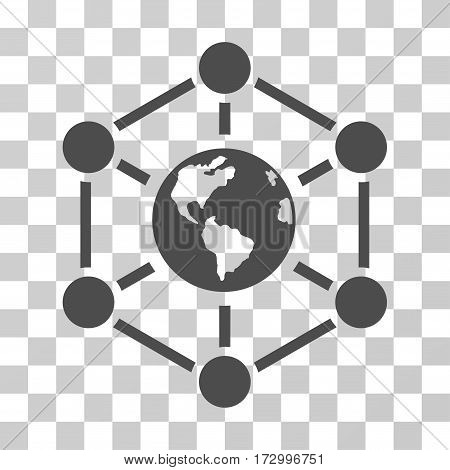 Worldwide Internet vector pictograph. Illustration style is flat iconic gray symbol on a transparent background.