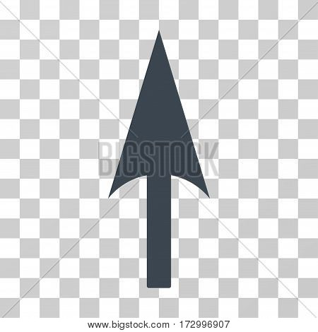 Arrow Axis Y vector pictogram. Illustration style is flat iconic smooth blue symbol on a transparent background.