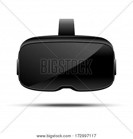 Stereoscopic 3d vr illustration. Vector virtual digital cyberspace technology. Innovation device.
