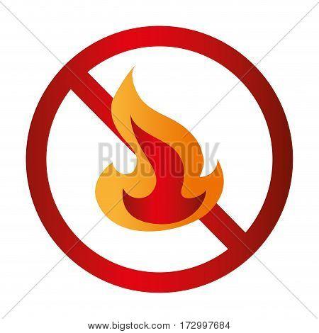 fire flame signal icon vector illustration design