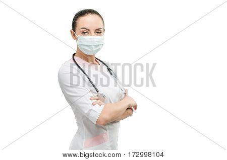 Portrait Of Doctor Isolated Of White Background