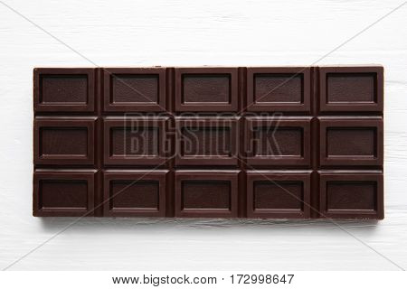 Chocolate bar, closeup