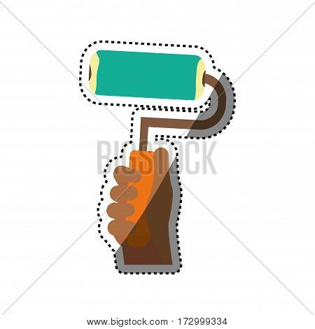 Rolling paint tool icon vector illustration graphic design