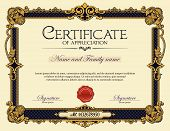 Antique Vintage Ornament Frame Certificate of Appreciation poster