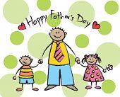 Happy Father 'S Day - Hispanic Family