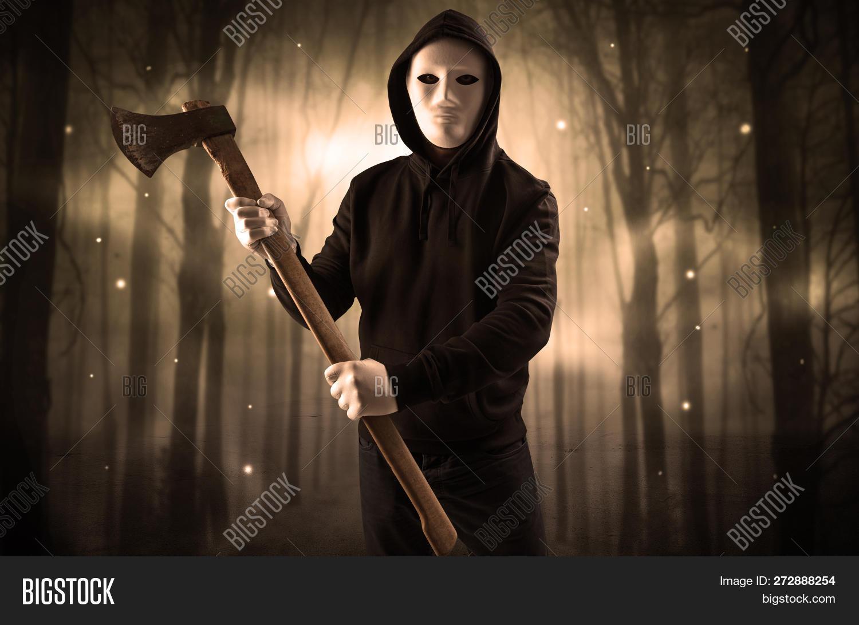 Masked Armed Hitman Image Photo Free Trial Bigstock