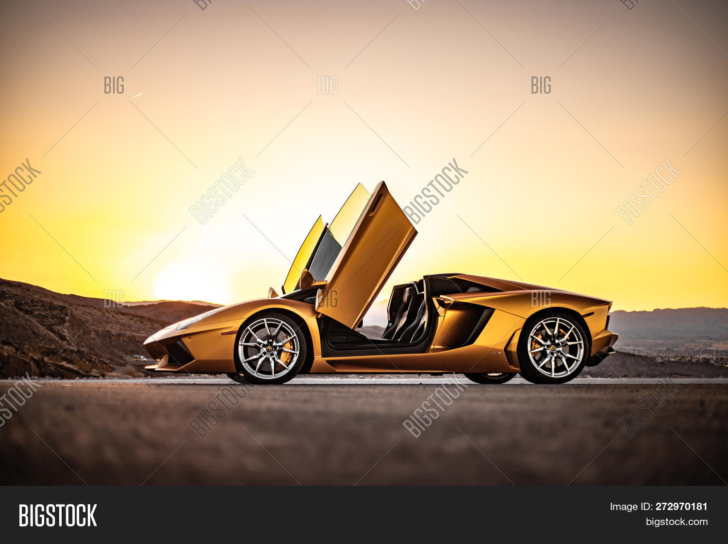 Gold Lamborghini Image Photo Free Trial Bigstock