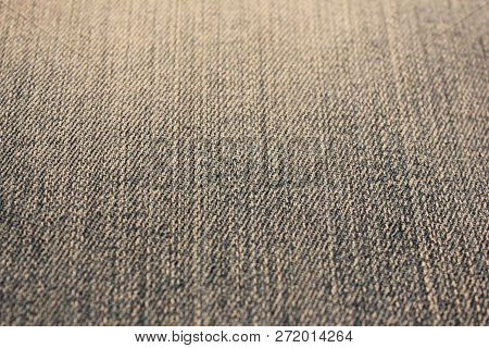 Gray Denim Jeans Blurred Texture Background. Pale Dark Grey Classic Jeans Fabric, Empty Textile Surf