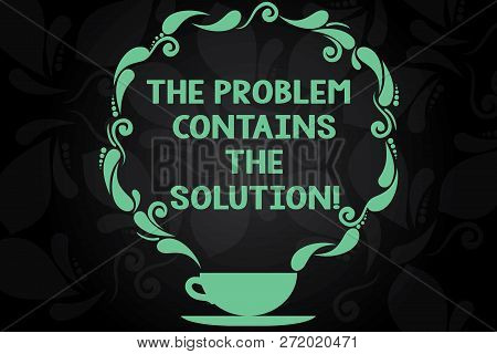Writing Note Showing The Problem Contains The Solution. Business Photo Showcasing Solutions Are Insi