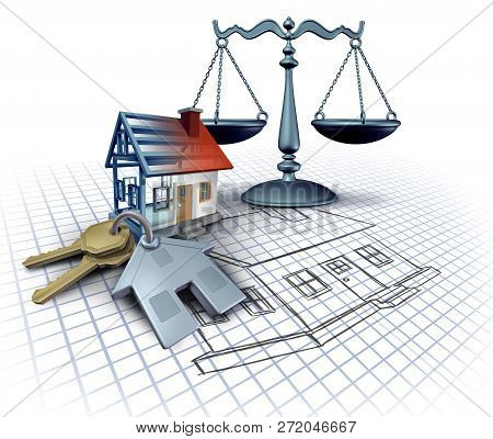 Home Construction Law And Legal Building Codes As A Real Estate Legislation Featuring Blue Print Pla