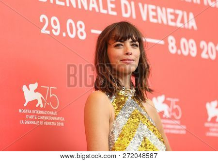 Berenice Bejo attends 'La Quietud' photocall during the 75th Venice Film Festival at Sala Casino on September 2, 2018 in Venice, Italy.
