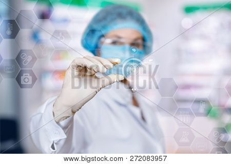A Laboratory Assistant Is Organizing The Digital System Consisted Of Different Medical And Lab Symbo
