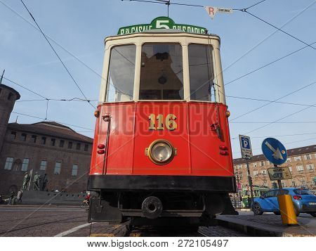 Vintage 116 Tram At Turin Trolley Festival