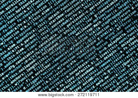 Computer Program Preview. Programming Code Typing. Information Technology Website Coding Standards F