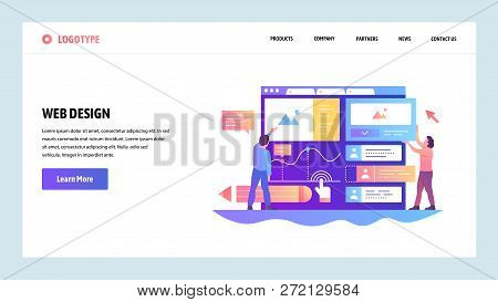 Web Site Onboarding Screens. Team Build Ux Ui Interface. Menu Vector Banner Template For Website And
