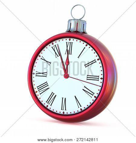 Christmas Ball 12 Clock Midnight Time Countdown Pressure