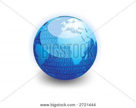 Binary Data Globe