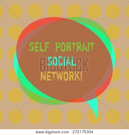 Writing Note Showing Self Portrait Social Network. Business Photo Showcasing Selfie For Online Shari