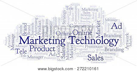 Word Cloud With Text Marketing Technology. Wordcloud Made With Text Only.