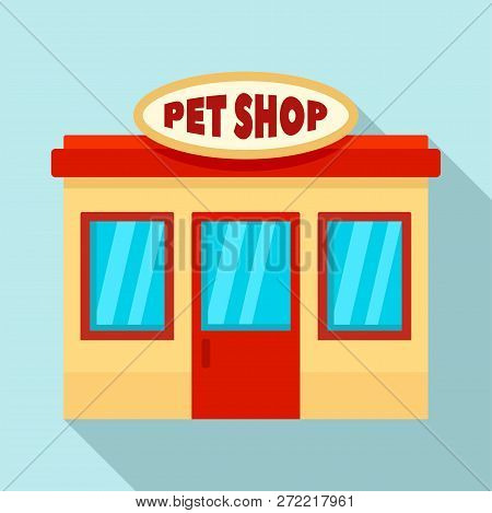 Pet Street Shop Icon. Flat Illustration Of Pet Street Shop Vector Icon For Web Design