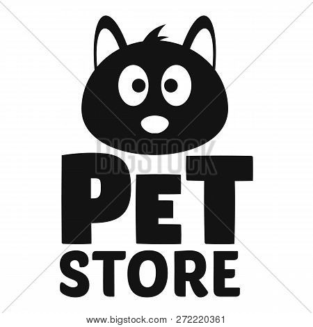 Cat Pet Store Logo. Simple Illustration Of Cat Pet Store Vector Logo For Web Design Isolated On Whit