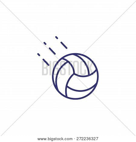 Volleyball Line Icon. Ball On White Background. Sport Concept. Vector Illustration Can Be Used For T