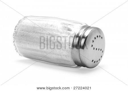 saltshaker on white background