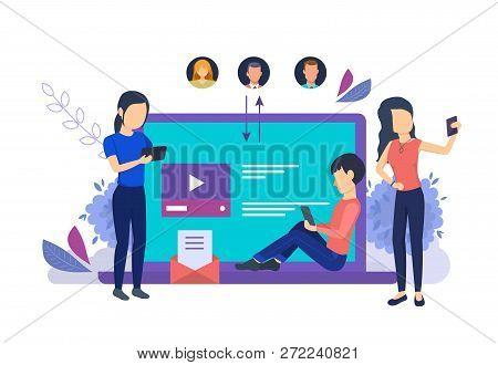 Media Technologies, Online Communications, Selfie On Smartphone, Review Media.