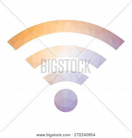 Gprs Logo. Radio Wave Icon. Wireless Network Symbol Isolated On White Background. Mobile Conceptual