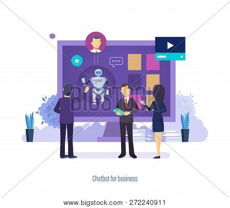 Chatbot For Business. Virtual Robot Assistant, Help Desk, Technical Support.