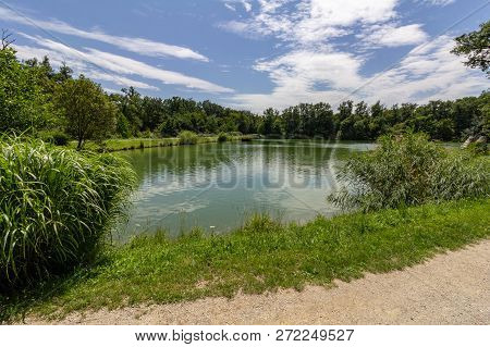 The Fifth of five lakes in Maksimir Park, a large greenspace in Zagreb, Croatia poster