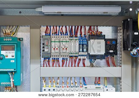 In The Electrical Cabinet Frequency Converter, Controller, Relay, Thermostat. Thermistor Relay, Temp