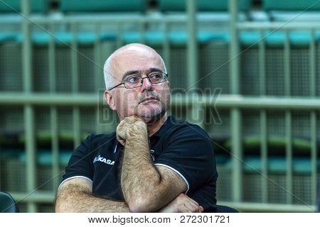 Odessa, Ukraine Nov. 27, 2018: 2019 Cev Volleyball Cup - Women Southern Chemist (ukr) - Green, Swiet