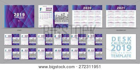 Desk Calendar 2019 Vector Photo Free Trial Bigstock