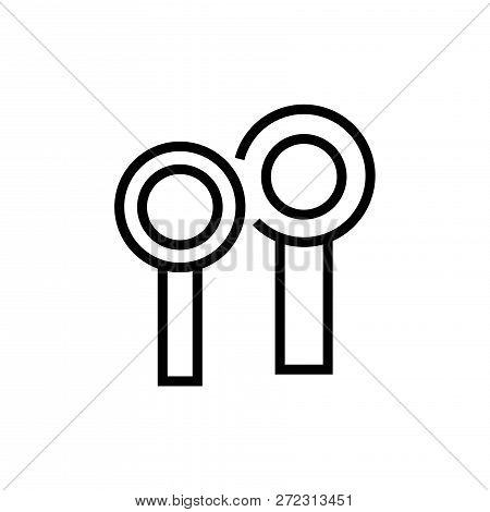 Magnifying Glass Icon Vector Sign And Symbol Isolated On White Background, Magnifying Glass Logo Con