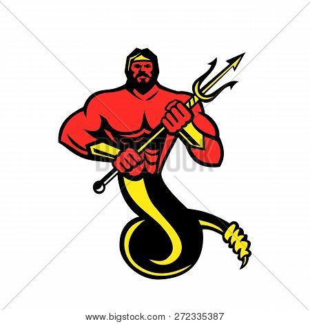 Mascot Icon Illustration Of Typhon,typhoeus, Typhaon Or Typhos, A Monstrous Serpentine Giant And The
