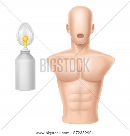 3d Realistic Human Body For Training Of Artificial Respiration, Equipment For Lifeguards, Medical Wo