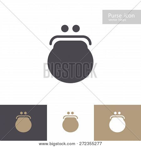 Vector Purse Icon Set Isolated On Background. Wallet Symbol For Ui, Mobile App, Infographic, Web Sit
