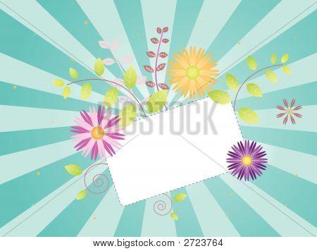 Spring Flowers On Sunburst