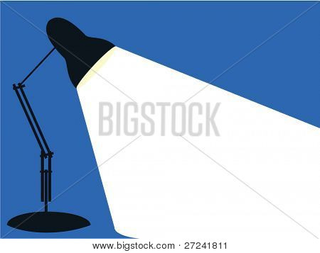 Single angle poise lamp ina simple graphic style
