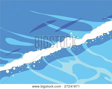 simple waves breaking onto shore